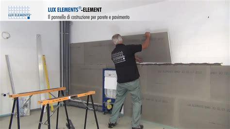montaggio lux elements pannello  costruzione element