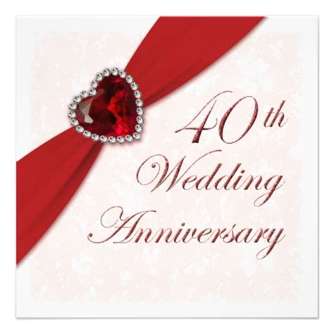 40th wedding anniversary personalized 40th anniversary invitations custominvitations4u com