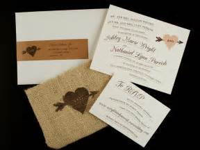 rustic wedding invitations nathan 39 s whimsical and rustic burlap wedding invitations