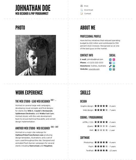 40 great html cv resume templates template idesignow