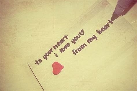 To Your Heart, I Love You, From My Heart