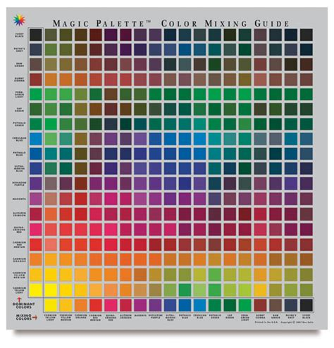 color selector and mixing guide personal size