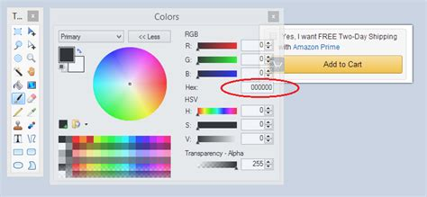 paint net color toolbar how to make a button