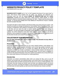 privacy policy templates examples website mobile With online privacy policy template