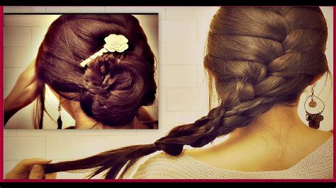 french braid   hair tutorial romantic updo