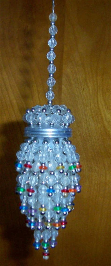 Chandelier Ornament by Beaded Multi Color Tea Strainer Chandelier Ornament