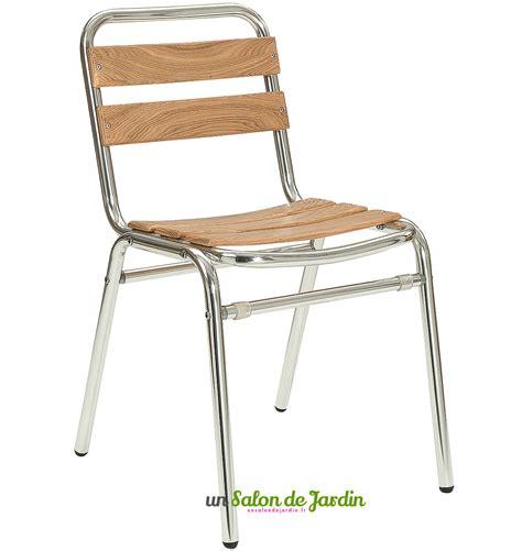 chaise bistrot alu chaise bistrot alu et bois table de lit