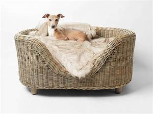 raised oval rattan dog bed charley chau luxury dog With where to buy dog beds