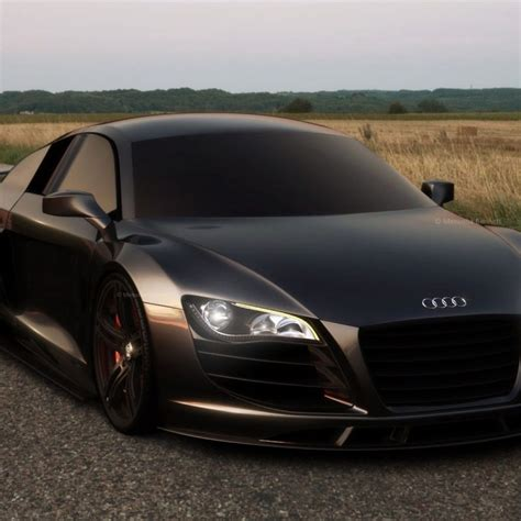 10 New Audi R8 Matte Black Wallpaper Full Hd 1920×1080 For