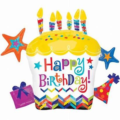 Birthday Happy Cupcake Cake Balloon 28 Star