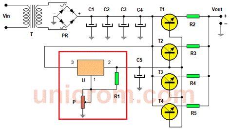 fuente de voltaje variable de potencia lm317 revista elektronika