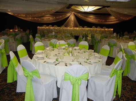 wedding decorations lime green and white wedding dress