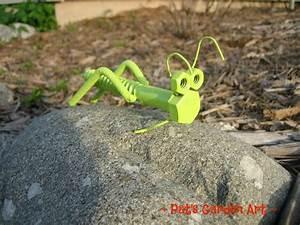 Lime A Metal : lime green grasshopper recycled metal garden art lawn ~ Edinachiropracticcenter.com Idées de Décoration