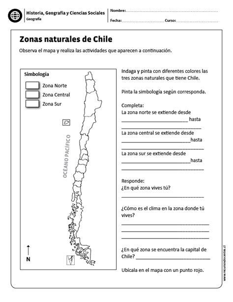 Zonas naturales de Chile Geografía Ciencias sociales y