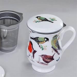 Teetassen Mit Deckel : tea 4 you roy kirkham tasse mit sieb und deckel garden birds motiv2 ~ Pilothousefishingboats.com Haus und Dekorationen