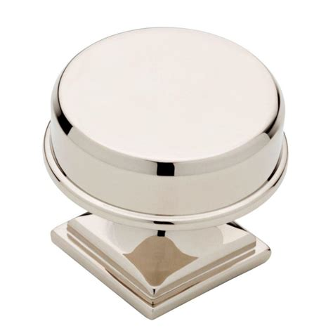 polished nickel cabinet knobs liberty 1 1 5 in polished nickel cabinet
