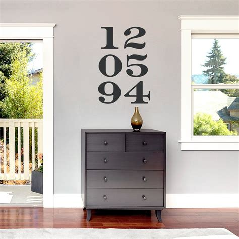 Peel and stick wall decals are a great solution! Anniversary Numbers Wall Decal   Number wall, Name wall decor, Wall decals