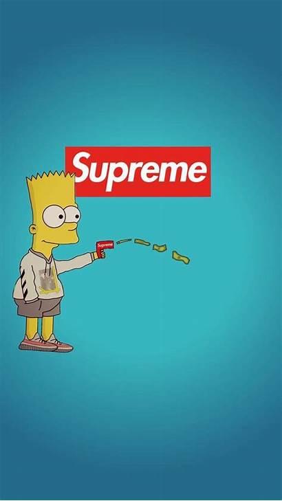 Supreme Bart Simpson Simpsons Wallpapers Desktop Hypebeast