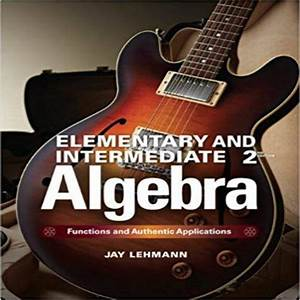 Solution Manual For Elementary And Intermediate Algebra