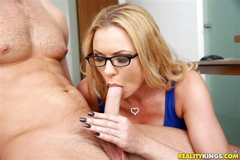 Big Boobed Blonde Milf Briana Banks Sucking Off Long Cock