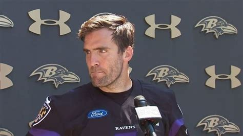 Baltimore Ravens quarterback Joe Flacco speaks out for the ...