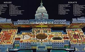 Intricate Cutaway Drawing Of The Capitol  U2014 Architect Of