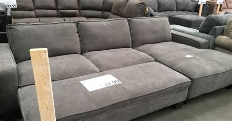 costco chaise lounge chaise sectional sofa with storage ottoman costco weekender