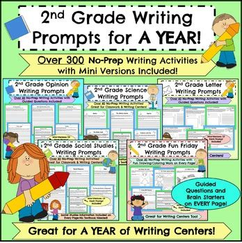 grade writing prompts   year  food  taught tpt