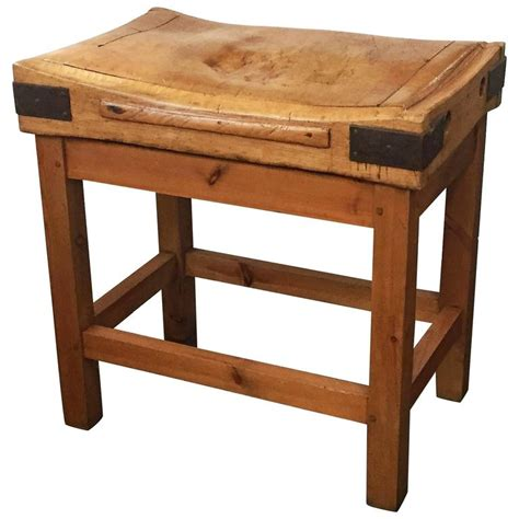 Large French Butcher's Block On Stand For Sale At 1stdibs