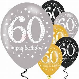 Deko Zum 60 Geburtstag : dekorative luftballon geburtstags deko zum 60 geburtstag gold schwa ~ Orissabook.com Haus und Dekorationen