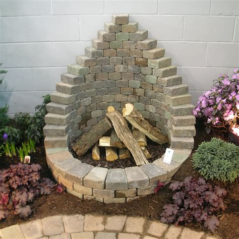 diy yard how to be creative with stone fire pit designs backyard diy modern outdoors
