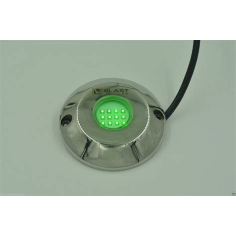 green underwater led boat light um12