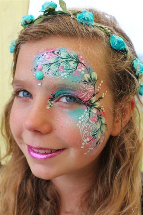 gesicht schminken kinder waldfee m 228 dchen blumen blumenkranz kinderschminken painting kinderschminken kinder