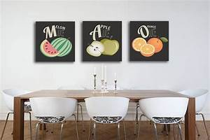 tableau triptyque salade de fruits izoa With decoration murale cuisine design