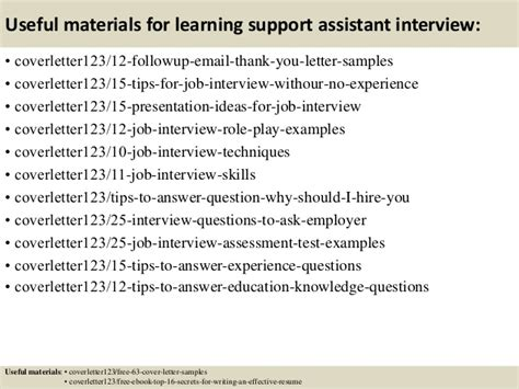 cover letter for learning support assistant top 5 learning support assistant cover letter sles