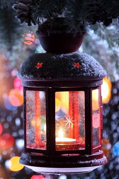 Tree Candle Snow Branch Snowflakes Winter Christmas