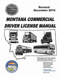 Commercial Driver Manual For Cdl Training  Montana  On Cd