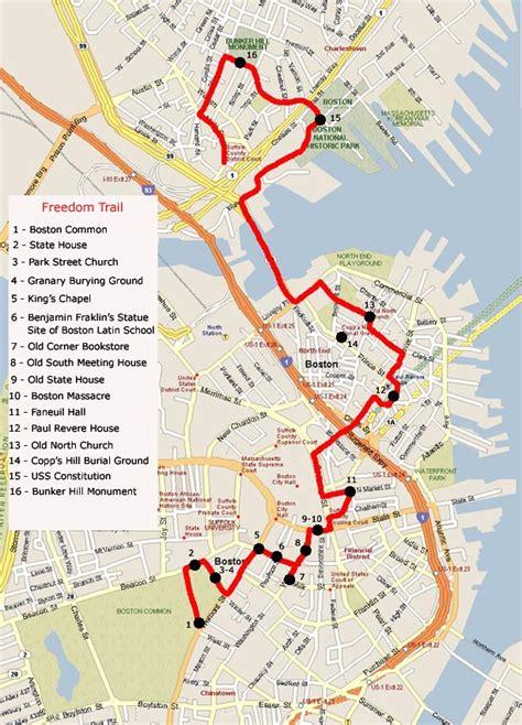 Boston Freedom Trail Map - Boston common map