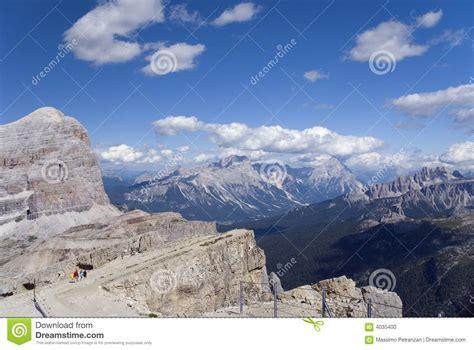 Dolomites View From Lagazuoi Refuge Stock Photo Image