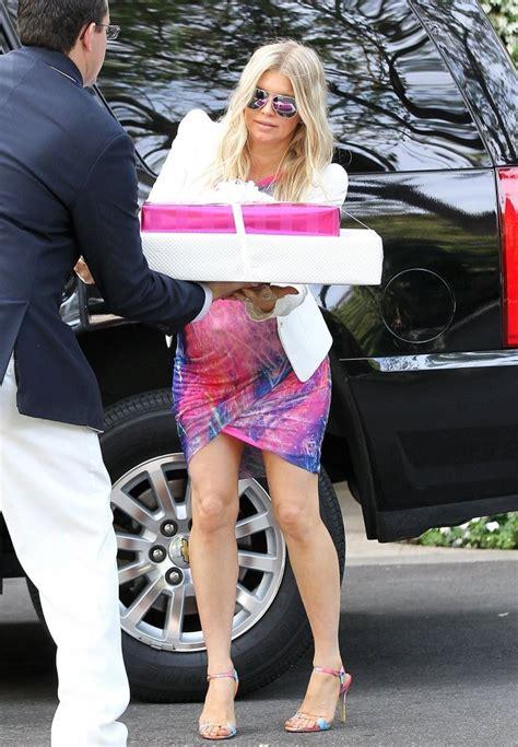 Fergie Pregnant Arriving For Heidi Klum
