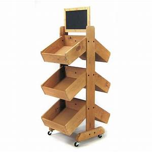 Double-Sided Wooden Display Bins