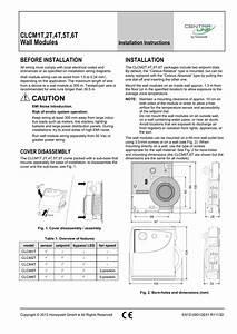 Clcm1t 2t 4t 5t 6t Wall Modules Caution