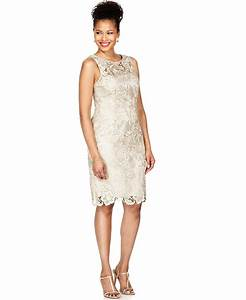 adrianna papell lace sheath dress adrianna papell and With macy wedding dresses mother of the bride