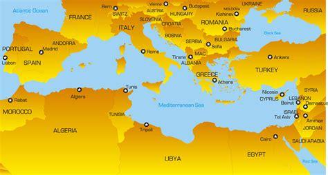 color mediterranean map