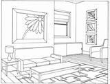 Coloring Living Interior Architecture Caleb Sophia Drawing Buildings Ruang Tamu Sketsa Gambar Printable Courses Vanishing Drawings Point Jw Scene Desain sketch template
