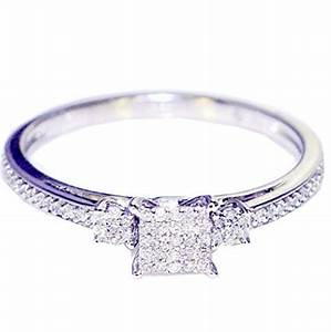 015ct diamond engagement ring promise ring princess cut With great deals on wedding rings