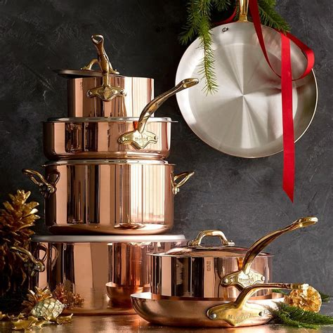 mauviel copper  piece cookware set williams sonoma au