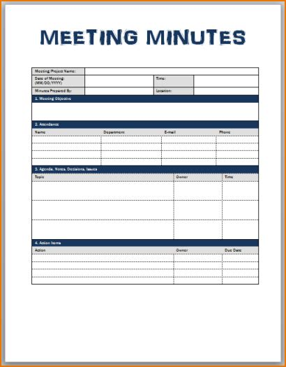 meeting minutes templates teknoswitch