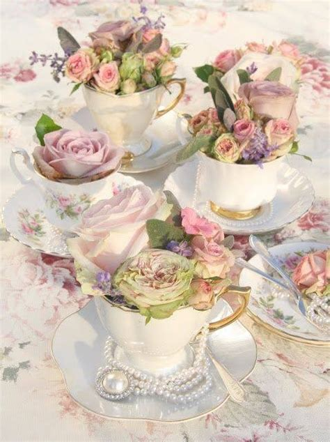 rose filled teacups pictures   images