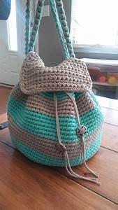 Crochet En S : slouchy stripes backpack free pattern ~ Nature-et-papiers.com Idées de Décoration
